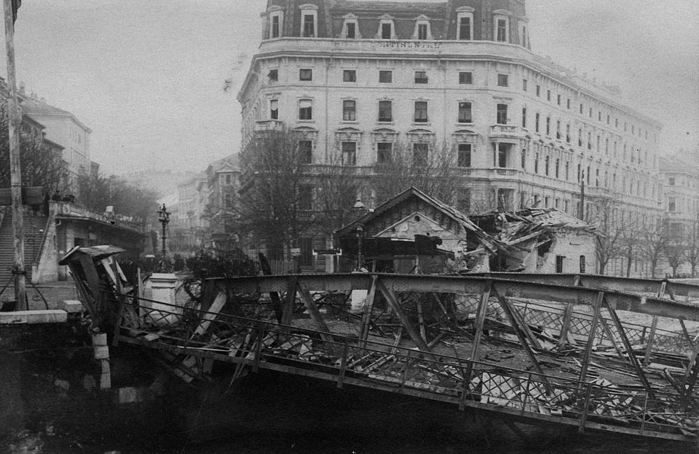 Rijeka (Fiume) 1920. Krvavi Božić. Porušeni most preko Rječine